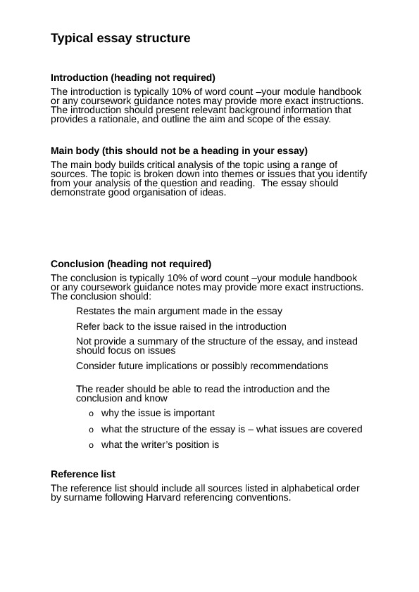 structure of an introduction of an essay Writing effective introductions great writers know that effective and impacting essays begin with an interesting and engaging introduction that reveals their thesis and purpose, while capturing the reader's attention.
